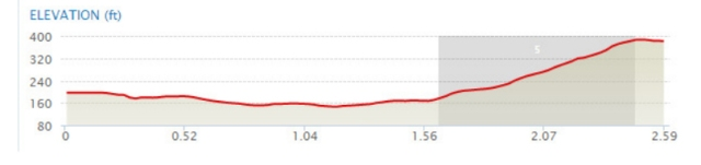 LEG 4 elevation profile