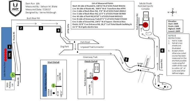 dam run usatf course map